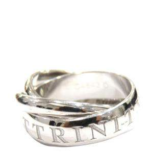 Cartier Trinity 18K White Gold Vintage Ring Size EU 50