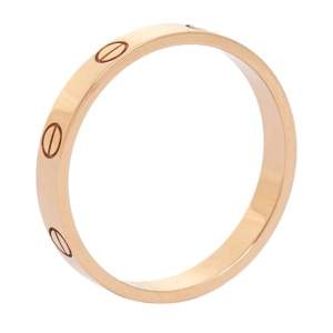 Cartier Love 18K Rose Gold Narrow Wedding Band Ring Size 63