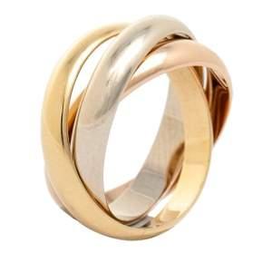 Cartier Trinity 18K Three Tone Gold Band Ring Size 53
