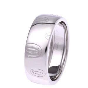 Cartier C De Cartier Happy Birthday 18K White Gold Ring EU 61