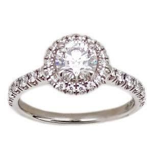 Cartier Destinee Solitaire Diamond Platinum Ring Size EU 49