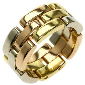 Cartier Maillon Panthere 18K Yellow Gold,White Gold,Rose Gold Ring Size EU 52