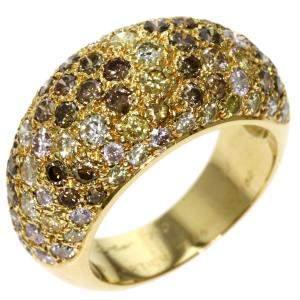 Cartier Dome Sauvage 18K Yellow Gold Diamond Ring Size EU 53