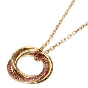 Cartier Trinity 18K Rose Gold Sappire Necklace
