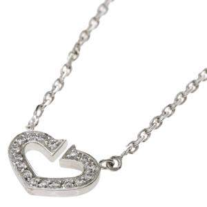 Cartier Hearts and Symbols 18K White Gold, Diamond Necklace
