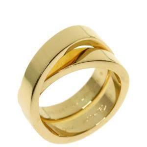 Cartier Nouvelle Vague 18K Yellow Gold Ring EU 51