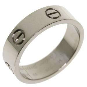 Cartier Love 18K White Gold Ring Size EU 59