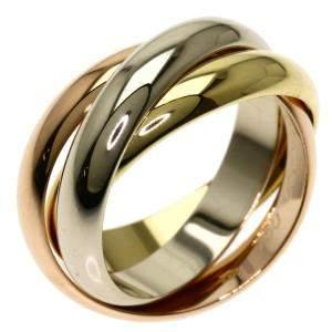 Cartier Trinity 18K Yellow, Rose, White Gold Ring Size EU 52