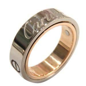 Cartier Love Secret 18K Rose Gold, White Gold Ring Size EU 48