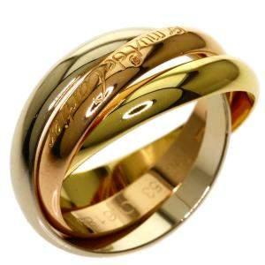 Cartier Trinity 18K Yellow, Rose, White Gold Ring Size EU 53