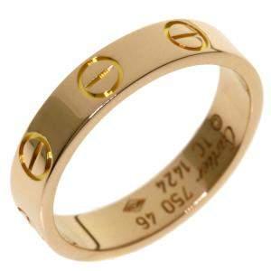 Cartier Love 18K Rose Gold Ring Size EU 46