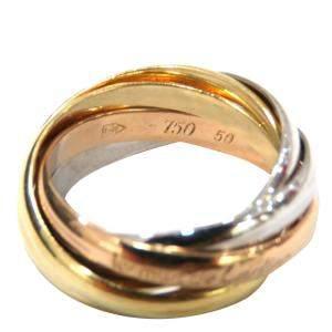 Cartier Trinity 18K Yellow, Rose, White Gold 5 Rings Size EU 50