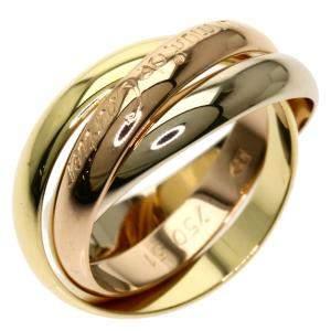 Cartier Trinity 18K Yellow, Rose, White Gold Ring Size EU 51