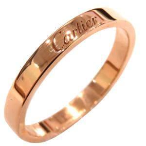 Cartier C De Cartier 18K Rose Gold Ring EU 56