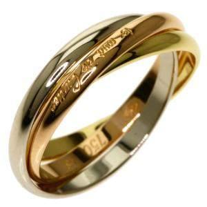 Cartier Trinity 18K Yellow, Rose, White Gold Vintage Ring Size EU 48