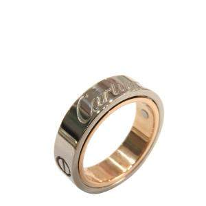 Cartier Astro Secret Love 18K Rose Gold White Gold Ring EU 51