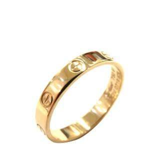 Cartier Mini Love 18K Yellow Gold Ring EU 61