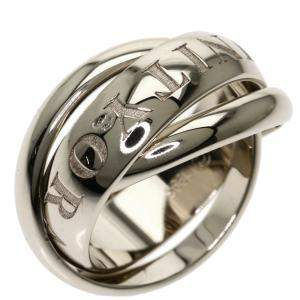 Cartier Vintage Or Amour Et Trinity 18K White Gold Ring EU 49