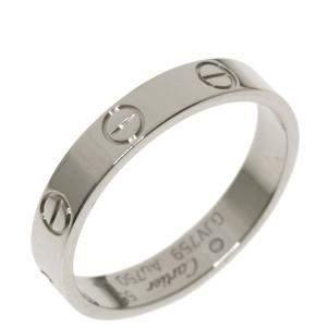 Cartier Mini Love 18K White Gold Ring EU 55