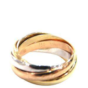 Cartier Trinity 5 Band 18K Yellow Gold Rose Gold White Gold Ring EU 51
