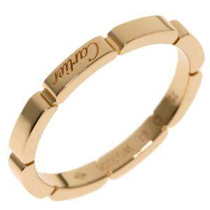 Cartier Maillon Panthere 18K Rose Gold Ring Size EU 61