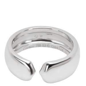 Cartier C 18K White Gold Ring Size EU 53