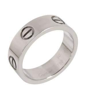 Cartier Love 18K White Gold Ring Size EU 50