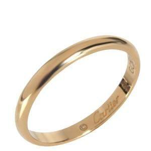 Cartier 1895 18K Yellow Gold Wedding Band Ring Size EU 55