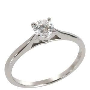 Cartier 1895 Diamond Platinum Solitaire Engagement Ring Size EU 48