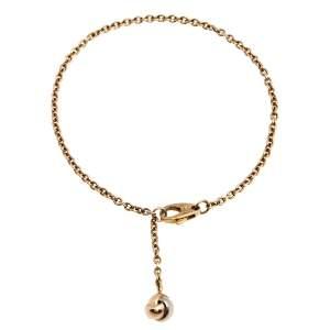 Cartier Trinity Knot Three Tone 18K Gold Charm Bracelet