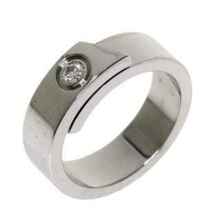 Cartier Anniversary 18K White Gold Diamond Ring EU 50