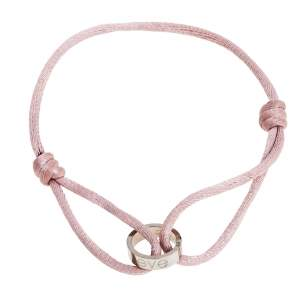 Cartier Love Charity 18K White Gold Adjustable Cord Bracelet
