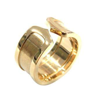 Cartier Vintage Double C de 18K Yellow Gold Ring EU 53