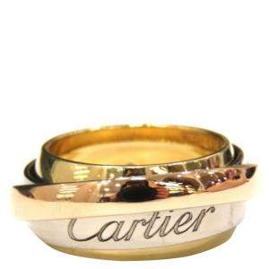 Cartier Trinity Le Must Essence 18K Yellow, Rose, White Gold Ring EU 50