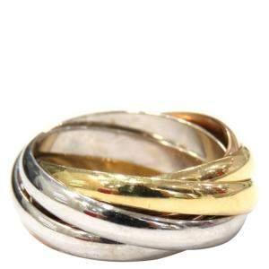 Cartier Trinity 5 Band 18K Yellow, Rose, White Gold Ring EU 50