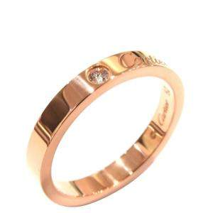 Cartier C De Cartier 18K Rose Gold Diamond Ring EU 52