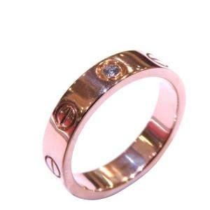 Cartier Love Wedding Band 18K Rose Gold Diamond Ring EU 54