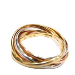 Cartier Trinity 7 Band 18K Yellow, Rose, White Gold Ring EU 53