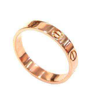 Cartier Mini Love 18K Rose Gold Ring EU 54