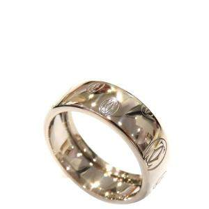 Cartier Happy Birthday 18K White Gold Ring EU 64