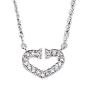 Cartier C Heart 18K White Gold Diamond Necklace