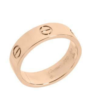 Cartier Love 18K Rose Gold Ring Size EU 59