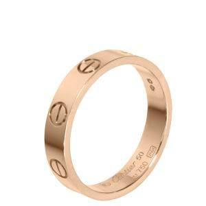 Cartier Love 18K Rose Gold Ring Size EU 50