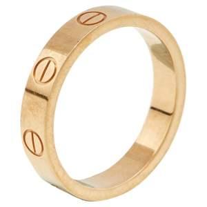 Cartier Love 18K Rose Gold Narrow Wedding Band Ring 51