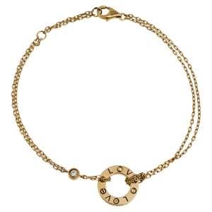 Cartier Love Diamond 18K Yellow Gold Bracelet