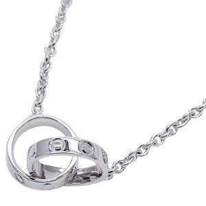 Cartier Love 18K White Gold Necklace