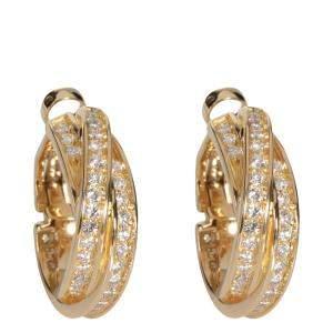 Cartier Trinity Crossover 18K Yellow Gold Diamond Earrings