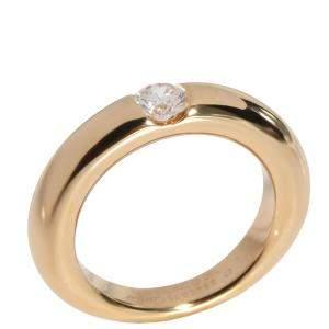 Cartier Ellipse 18K Yellow Gold Diamond Ring EU 47