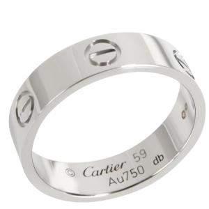 Cartier Love 18K White Gold Ring EU 59