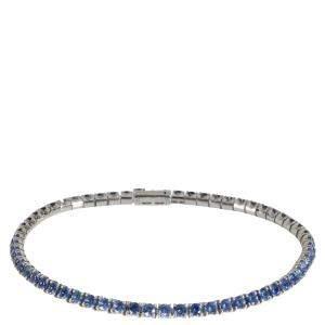 Cartier Tennis 18K White Gold Sapphire Bracelet 18